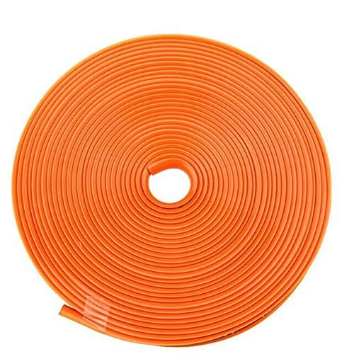 N\A Protector de adhesivo para coche, llanta de coche, cinta de colores, protección de llantas, decoración de goma para llantas, borde de moldura (color: naranja)