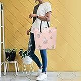 GIGIJY - Bolso de mano para mujer, diseño de unicornio con plantas suculentas, tamaño grande para el hombro, bolsa organizadora para la compra