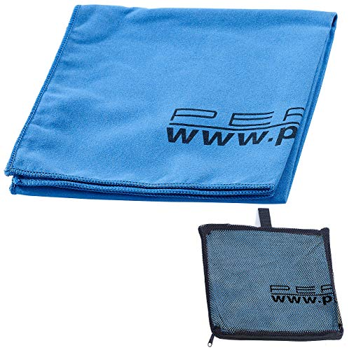 PEARL Mikrofaser Sporttuch: Extra saugfähiges Mikrofaser-Handtuch, 80 x 40 cm, blau (Saugfähiges Tuch)