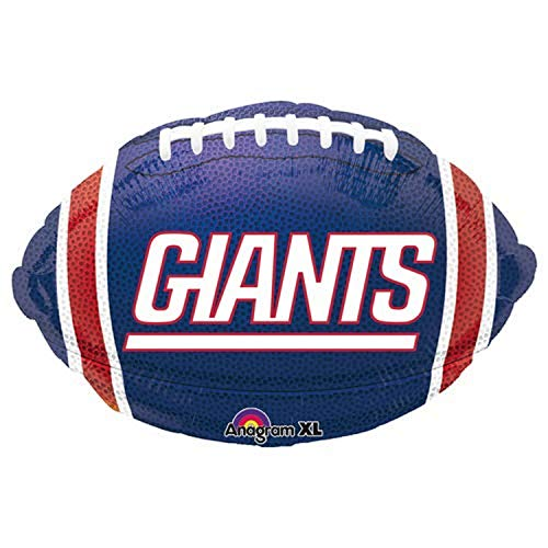 Anagram 29601 NFL New York Giants Football Team Colors Foil Balloon, 17', Multicolored