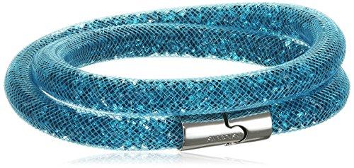 Swarovski Damen-Armband Stardust Double Blue rhodiniert Kunststoff Glas blau - 5120022