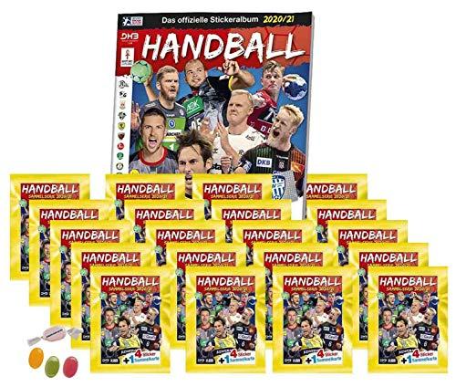 Blue Ocean Victus Handball Sticker 2020/2021 - Stickeralbum + 20 x Stickertüten Saison 20/21 zusätzlich 1 x Sticker-und-co Fruchtmix Bonbon