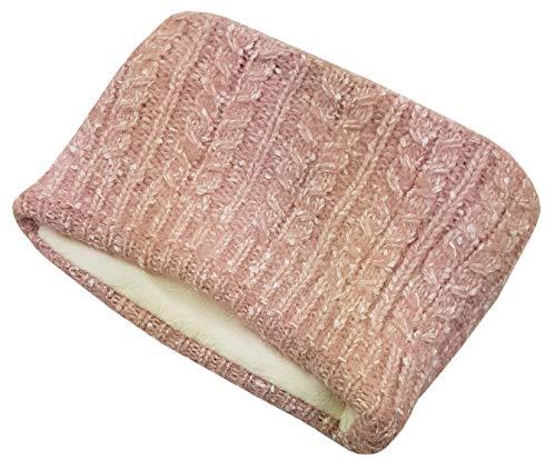 Stirnband Damen Winter Mädchen breit warm Strick Haarband weich elegant Fleece gefüttert...