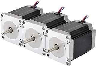 STEPPERONLINE 3PCS Nema 23 CNC Stepper Motor 2.8A 269oz.in 76mm Bipolar for Hobby CNC Kit