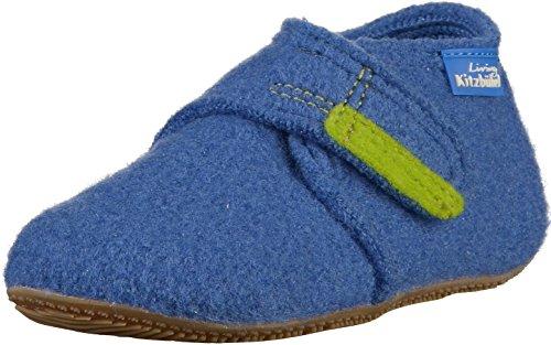 Living Kitzbuhel Baby-Jungen Babyklettschuh Krabbel- & Hausschuhe, Blau (victoria blue 558), 24 EU