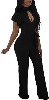 Women Elegant Turtleneck Jumpsuit Long Sleeve Long Pants...