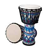 Meech Djembe Drum for Adults African Drum 10 InchWide 9.84 Inches High 20.27 Inches Djembe DrumLarge Blue