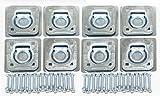 LIBRA Set of 8 Recessed D-Rings w/Backing Plates & Hardware Trailer RV Flush Mount Tiedown- 27042