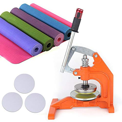 ZHFEISY Fabric Sampler Cutter - 0.1-10mm Thickness Pressure Type 100 Sqcm Round Cloth Sample Disk Cutter Cloth Textile Sampling Machine -  OT-TWYJ-3434