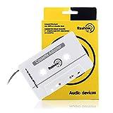 Reshow Adaptateur Cassette pour Voitures - Écoutez des Smartphones, des lecteurs MP3 ou Un Walkman dans Un Lecteur Cassettes de véhicule Standard - Convertisseur Vintage/Musique Rétro