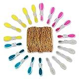 GRÜNTEK Cordel de yute natural 4mm x 1 Rollos de 100 m. Cuerda de yute Hilo macramé para jardinería, decoración, tarjetas de regalo. Color natural