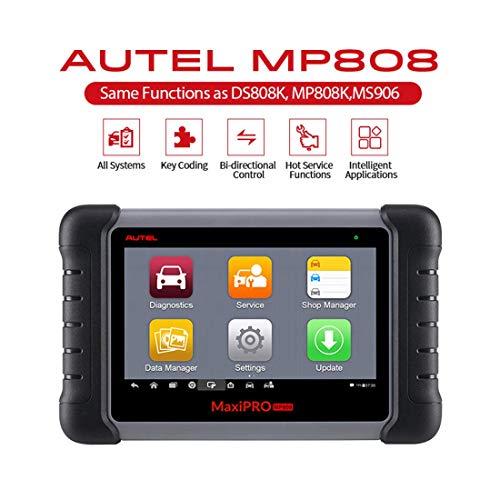 DiagnosegerätAuto,Autel MP808 OBD2-Scanner, Schlüssel Codierung, OE-Level-Diagnose, alle Systeme mit 18 Sonderfunktionen, AutoVIN,(aktualisierte Version von DS708, Funktionen wie DS808 / MS906)
