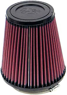 K&N RF-1032 Universal Clamp-On Air Filter: Round Tapered; 4 in (102 mm) Flange ID; 7 in (178 mm) Height; 6.5 in (165 mm) Base; 4.5 in (114 mm) Top