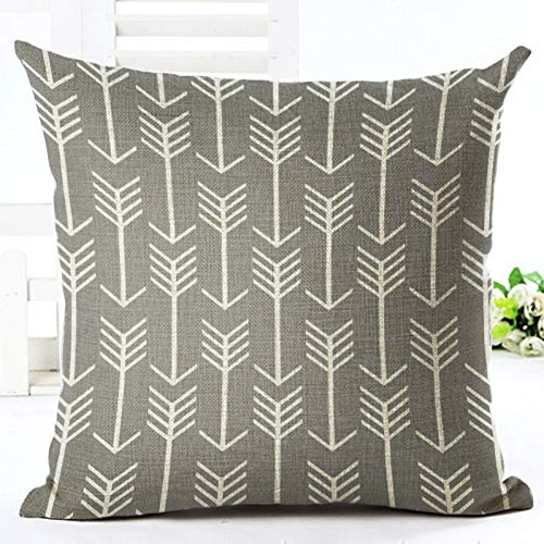 DXSERCV Cushion Cover Colorful Geometric Series Printed Linen Cotton Square Home Decor Houseware Throw Pillow 45 * 45Cm