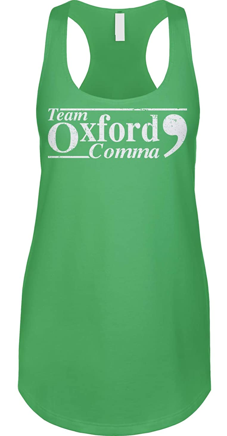 Blittzen Womens Racerback Tank Team Oxford Comma - Punctuation Proud