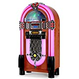 AUNA Graceland XXL Jukebox Vintage - Rockola Discos , MP3 , CD , AUX , Radio FM , Puerto USB , 100 W MAX