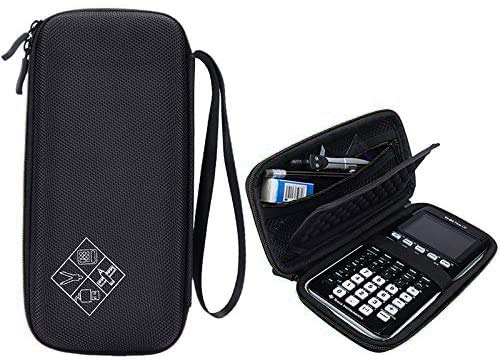 MASiKEN Hard EVA Carrying Case for Texas Instruments TI-84 Plus/TI-83 Plus CE Graphing Calculator, More Space for Pen and Accessory (Black)
