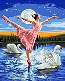 JHGJHK Cuadro de Bailarina Pintura al óleo Decoración Personaje de habitación Chica Dormitorio Decoración Mural (Imagen 12)