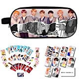 yovvin BTS Commodities Set BTS Bangtan Boys BTS Love Yourself Answer, lápices neceser de maquillaje + adhesivo tarjeta + BTS Card Sticker + BTS photocard con clip y cuerda Version L1