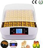 Incubadora Automática de 56 Huevos con Pantalla Digital y Control Eficiente e Inteligente de Temperatura (56 huevos+LED)