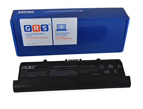 GRS Batterie avec 6600mAh pour Dell Inspiron 1525, RN873, GW240, GP952, remplacé: GW240, RN873, GP952, K450N, G555N, RU586, J399N, 312-0625, 312-0633, Laptop Batterie 6600mAh, 11.1V