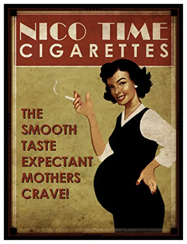 8 x 10 Photo Print Nico Time Cigarettes Expectant Mothers Crave Vintage Old Advertising Campaign Ads