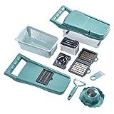 AMZYY Schneidemaschine, Gemüsehacker, Gemüsehobel, 10-teiliges Küchenwerkzeug...