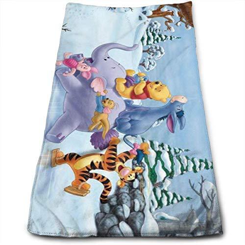AOOEDM Toalla de Tigre Saltador y Winnie The Pooh, 100% algodón de Lujo, Toallas de baño Suaves, Gruesas, de Calidad, para baño, Hotel y Cocina, (12 x 27,5 Pulgadas)