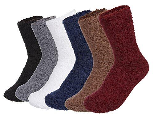 Lukis Unisex Winter Dicke Warme Socken Einfarbig Kuschelsocken Größe 36-44 Stil-2