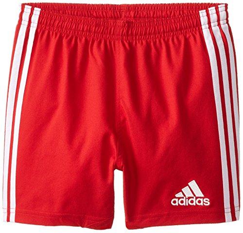 adidas Performance Boy's 3 Stripe Shorts, Power Red/White, Medium