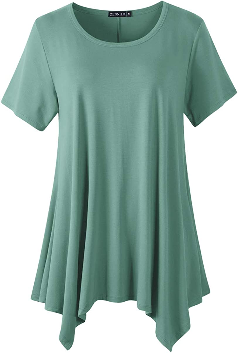 ZENNILO Plus Size Tunic Tops for Women Tunic Tops to Wear with Leggings