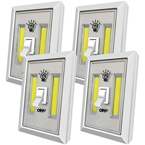 Wardrobe Light | Battery Operated Super Bright led Night Light | Wall Stick led Battery Lights for Cupboard, Closet, Basement, Shed | 200Lumens COB AAA LED Light