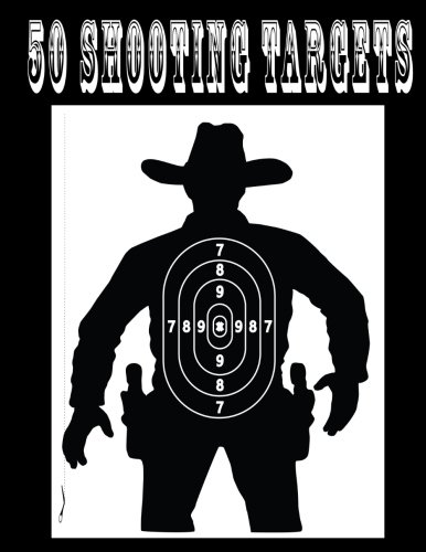 """50 Shooting Targets 8.5"""" x 11"""" - Silhouette, Target or Bullseye: Great for all Firearms, Rifles, Pistols, AirSoft, BB, Archery & Pellet Guns"""