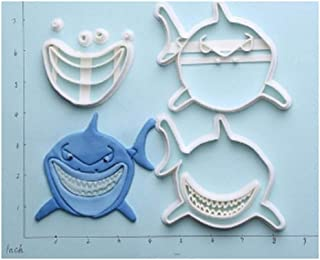 Finding Nemo Design Cookie Cutter Custom Made 3D Printed Fondant Cake Cutter Set Cake Decorating Tools - 19 (4 inch)