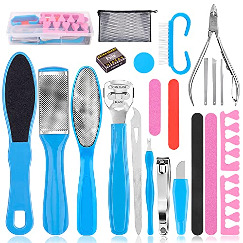 Pedicure Kit Professional, 25 in 1 Pedicure Tools Foot Care...
