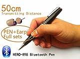 EDIMAEG HERO 898 - Penna Bluetooth con auricolare spia 40-60 cm, lunga distanza di trasmissione può ascoltare durante la scrittura (set completo con auricolare)