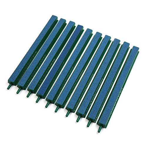 uxcell 10 Pcs Green 8.5 inches Length Air Stone Bubble Release Oxygen Diffuser Bar for Aquarium Fish Tank