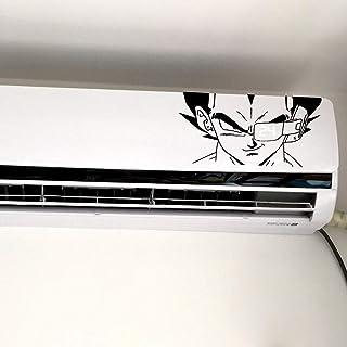 Dibujos animados creativos Dragon Ball Z Anime Comics Super Saiyan Vegeta Pegatinas de pared de vidrio Aire acondicionado Decoración de la habitación de los niños Calcomanía Regalo para niños 20 * 30