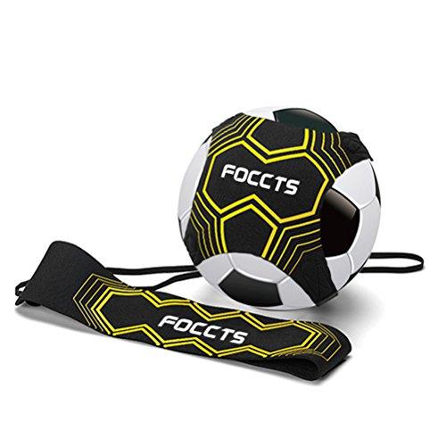 FOCCTS 1Stück StarKick Trainer Fußball Kick Trainer Gummiband für Fußballtraining Fußball Kick Trainer Solo Fußball Trainer mit Neopren Gürtel für Kinder