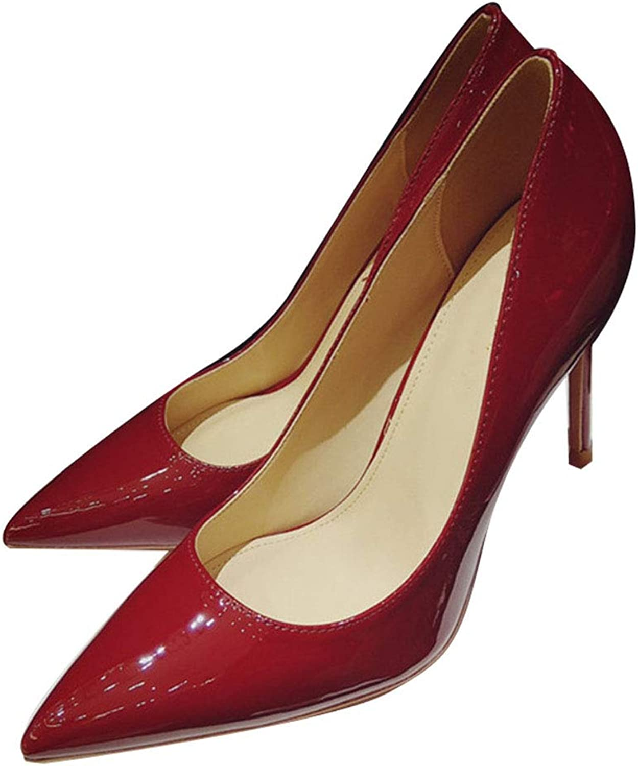 Women's Spring and Summer Basic high Heels Stiletto Heels Pointed Black red Light Party Evening Dress Party Evening wear,b,42