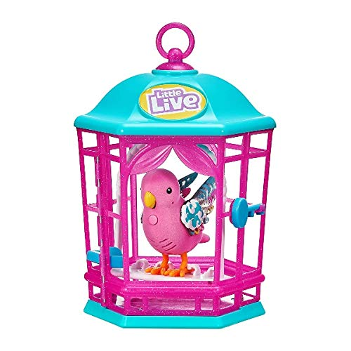 Little Live Pets 28546 Light UP Songbirds CAGE-Styles Vary, Multi