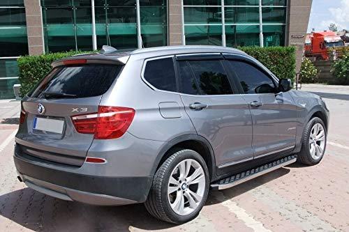Trittbretter passend für BMW X3 ab Baujahr 2010 Model Hitit Chrom mit TÜV und ABE
