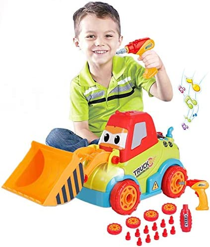 LUKAT Toys for 3 Year Old Boys Take Apart Toys Truck Toddler DIY Assembly Construction Bulldozer product image