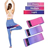 Beautifive Resistance Hip Bands 3er Pack, Fitnessbänder Gymnastikband Set, Loop Fitness Bänder...