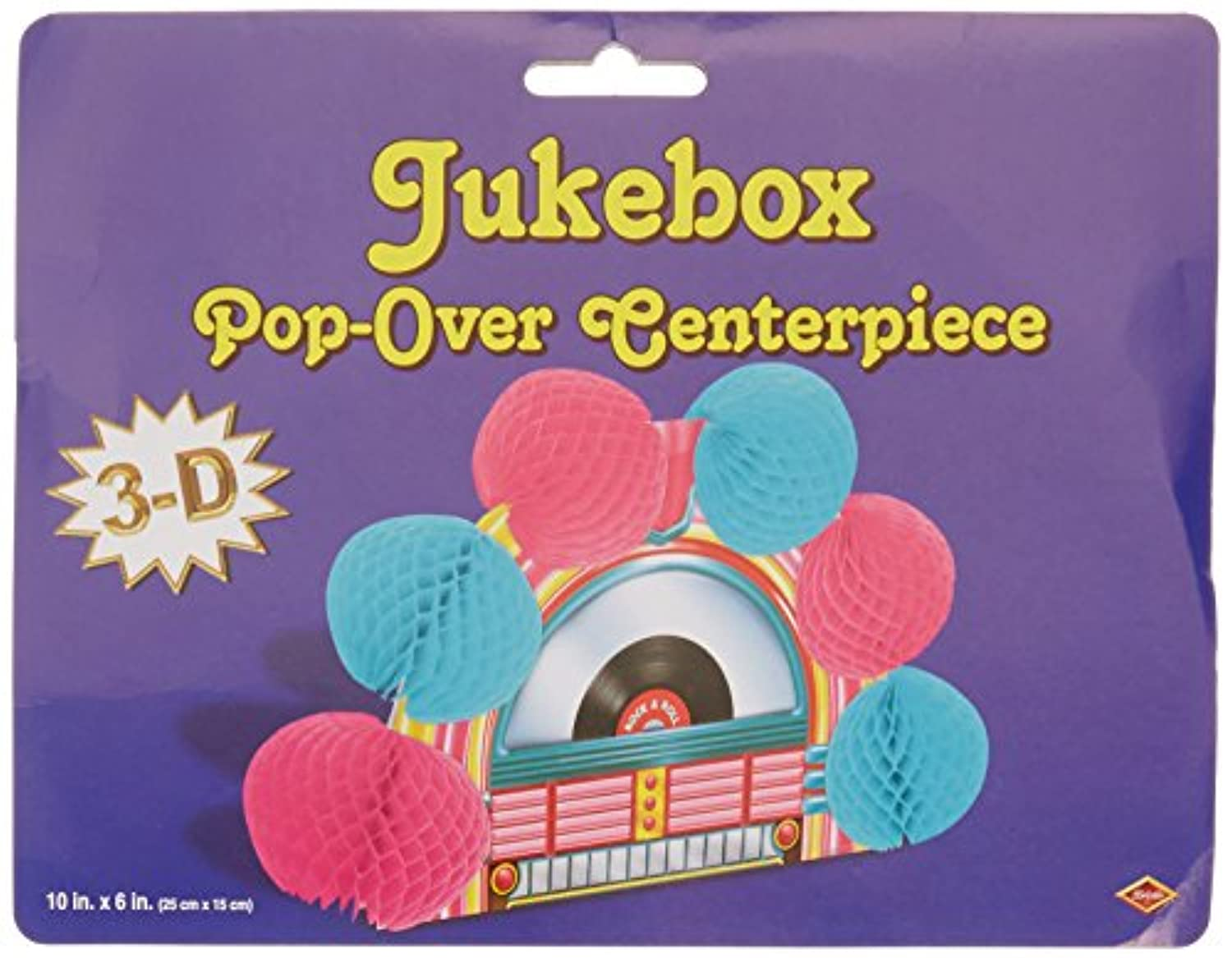 Jukebox Pop-Over Centerpiece Party Accessory (1 count) (1/Pkg)
