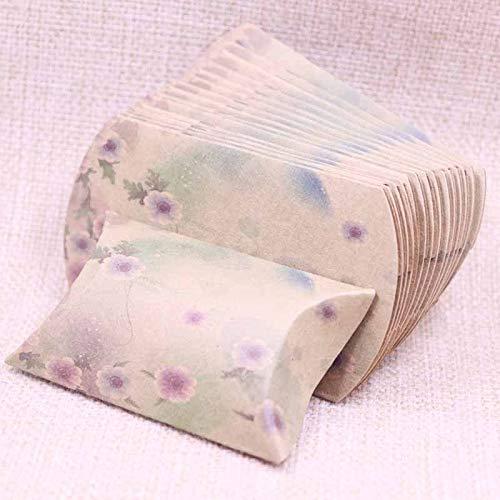 LOUISE Gift Tassen & Wrapping Supplies - 10 stks gift box papier kussen voorraad verpakking verjaardag huidige papieren doos blad patroon mode verse stijl gift box 1 pc's