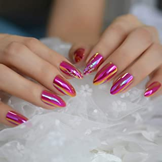 Best chrome hot pink nails Reviews