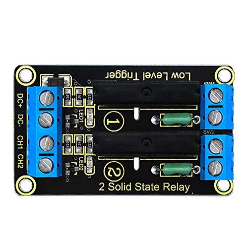 KEYESTUDIO 5V Módulo de relé de estado sólido 2 canales, 240V AC pare Arduino Mega2560 R3
