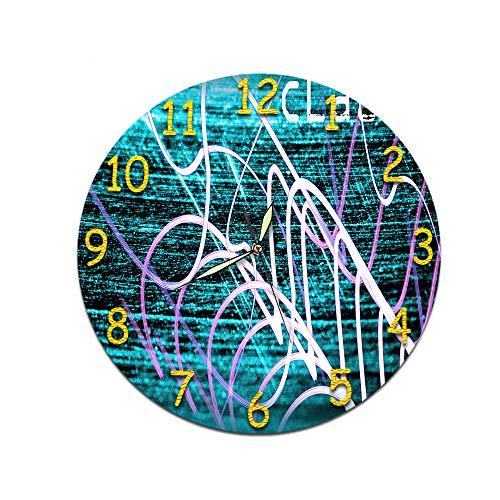 LUOYLYM Sala De Estar De Estilo Europeo Reloj De Pared Digital Acrílico Mudo Reloj Estéreo Creativo Etiqueta De La Pared Cara del Reloj Z00124 (Luminous Pointer) 28CM