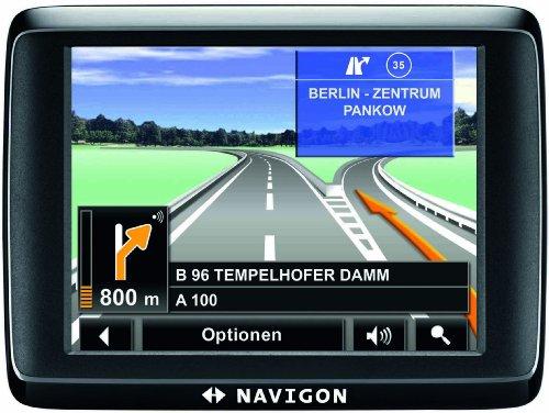 NAVIGON 1410 EU 40 Navigationssystem (8,9 cm (3,5 Zoll) Display, Europa (40 Länder), Fußgängernavigation, NAVIGON MyRoutes, Fahrspurassistent Pro)